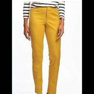 Pants - Old Navy mustard yellow pixie ankle pants